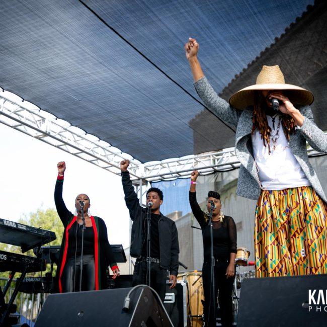 Nation Zamar and band performing